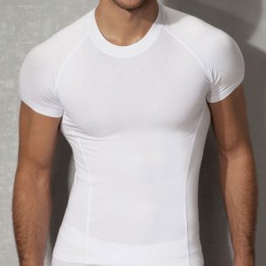 Doreanse Solid Short Sleeved T Shirt White 2535