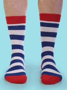 Curious Beaver Hello Stripes Socks