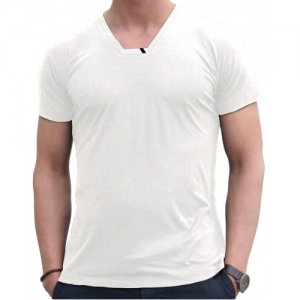Blunt Neck Inv-Luxe Short Sleeved T Shirt White I-M-SS-WH