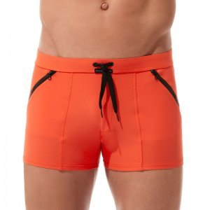 Gregg Homme EXOTIC Square Cut Trunk Swimwear Orange 161205