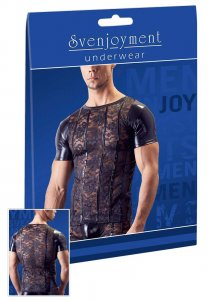 Svenjoyment Floral Lace Short Sleeved T Shirt Black 2161036