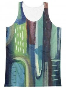Polly & Cracker Barcelona Nights Sublimation Tank Top T Shir...