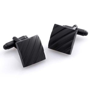 Duncan Walton Clough Cufflinks Matte Black C2481B