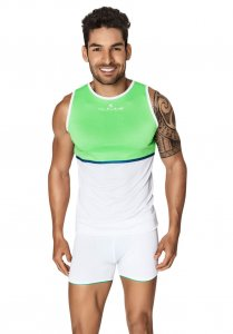 Clever Votix Tank Top T Shirt White/Green 7023