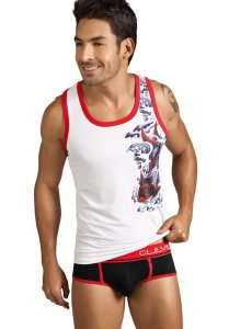 Clever Koi Fish Tank Top T Shirt White 7015
