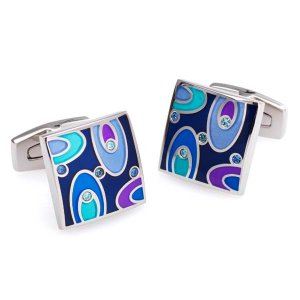 Duncan Walton Easton Cufflinks Blue C2455B