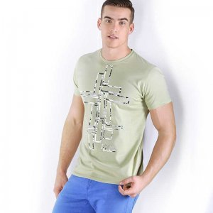Roberto Lucca Regular Fit Short Sleeved T Shirt Army Green 80219-00320