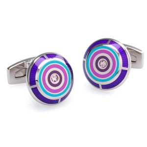Duncan Walton Flux Cufflinks Purple C2568B