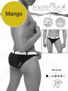 Icker Sea Sailor Belted Slip Bikini Swimwear Mango/White COB-12-141
