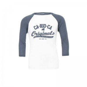 CA-RIO-CA Originals Raglan Long Sleeved T Shirt Denim/White ...