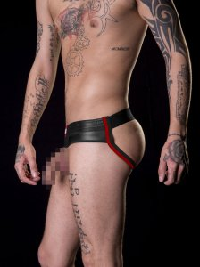 Barcode Berlin BlowBob Pouchless & Backless Jock Strap Underwear Black/Red 91155-103