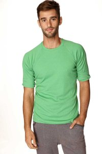 4-rth Hybrid Raglan Short Sleeved T Shirt Bamboo Green