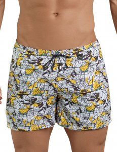 Clever Leaves Atleta Square Cut Trunk Swimwear Yellow 0684