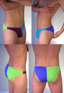 Buffedbod [Custom] Swimwear 4 Color Split Bikini SWB010 [Pick Color]