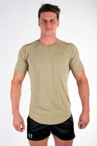 Twotags Purpose Short Sleeved T Shirt Grey/Olive
