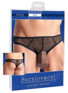 Svenjoyment Open Pouch Net Brief Underwear Black 2111144