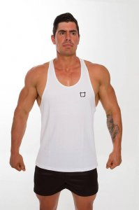 Twotags Workout Stringer Tank Top T Shirt White