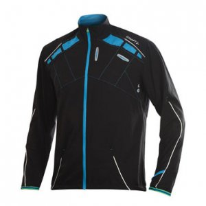 Craft Elite Run Long Sleeved Jacket Black/Blue 1901315