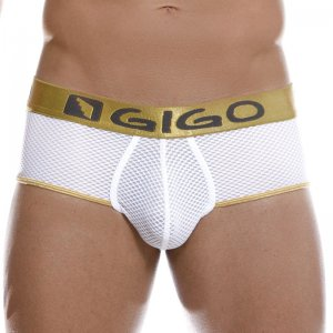Gigo SEXY WHITE Brief Underwear G01086-WHITE