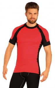 Litex Contrast Thermal Short Sleeved T Shirt Red/Black 51423