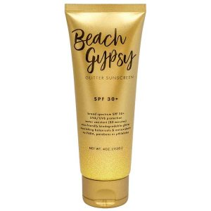 The Well Branded Beach Gypsy Gold Glitter Sunscreen
