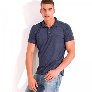 Roberto Lucca Polo Short Sleeved Shirt Jeans Blue RL150S0231...
