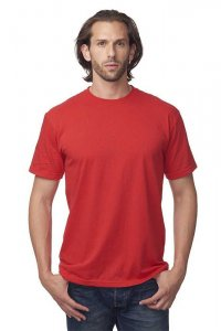Royal Apparel Unisex Recycled Jersey Short Sleeved T Shirt Recycle Red 65051