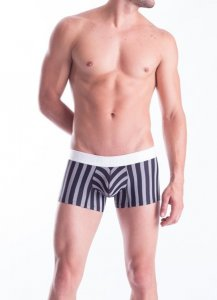 Mundo Unico Gardel Short Boxer Brief Underwear Black/White 15100821-91