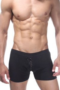 LaBlinque Lace Up Vinyl Boxer Brief Underwear Red LB-15087