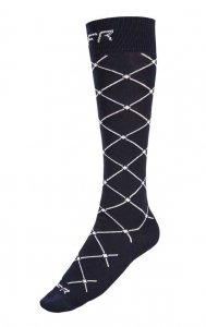 Litex Riders Criss Cross Knee Socks Dark Blue J2007