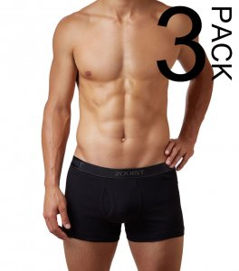 2(x)ist [3 Pack] Cotton Boxer Brief Underwear Black 31020304...