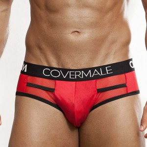 Cover Male Level Brief Underwear Red 143