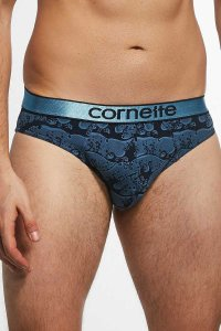Cornette High Emotion Printed 507/12 Slip Brief Underwear Bl...