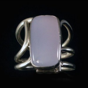 Metro Mod Man Blue Chalcedony US 13 UK Z 1/2 Ring MR-BC348