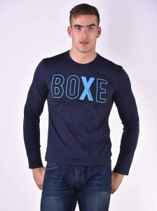 Roberto Lucca BOXE Slim Fit Long Sleeved T Shirt Navy Blue 8...