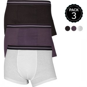 Marginal [3 Pack] Boxer Brief Underwear Black & Grey & White T013-1
