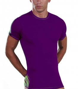 Lord Elastic Short Sleeved T Shirt Purple 8168