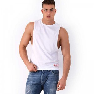 Roberto Lucca CC7 Large Armhole Muscle Top T Shirt White 702...