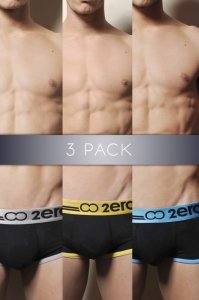 [3 Pairs] 2EROS Icon Boxer Brief Underwear Assorted Colors U05-06