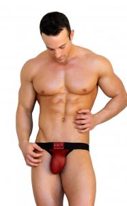 Jack Adams Power Mesh Jock Lifter Brief Underwear Black/Red 401-126