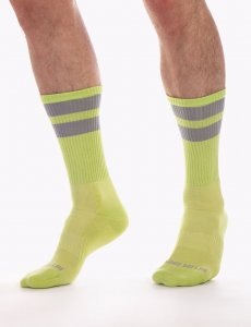 Barcode Berlin [3 Pack] Gym Socks Neon Green/Grey 91366-492
