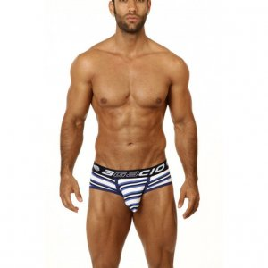 Agacio Striped Pouch Brief Underwear Navy 6740