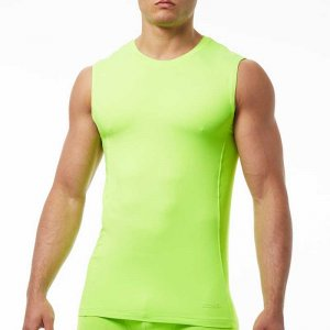 Papi Sport Muscle Top T Shirt Neon Green 626805-314