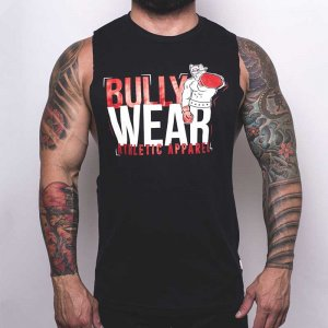 Bullywear Boxer Muscle Top T Shirt Black S-ST104HS