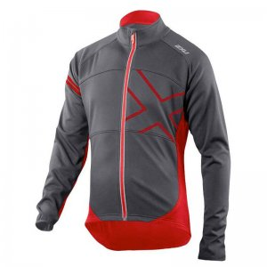 2XU Wind Break 180 Cycle Jacket CharcoalFlame MC2983A