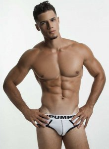 Pump! Drop Kick Brief Underwear White/Black 12037