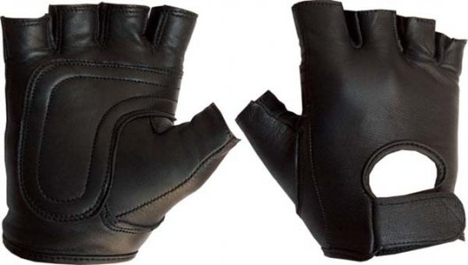 Mister B Leather Fingerless Gloves 412500