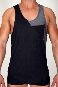 Pistol Pete Urban Tank Top T Shirt Denim TK161-119
