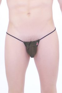 Petit-Q Transparent G String Underwear Green/Black PQ151202