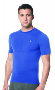 Lupo Compression Short Sleeved T Shirt Royal Blue 70040-1